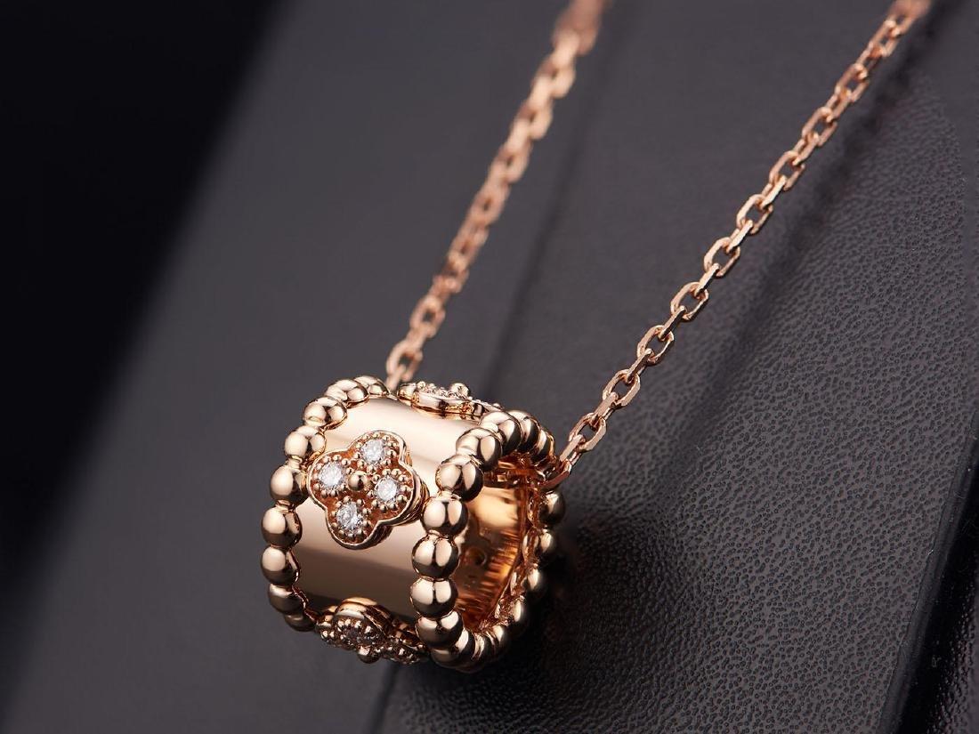 VAN CLEEF ARPELS  18K ROSE GOLD DIAMOND NECKLACE - 2