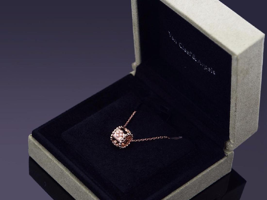 VAN CLEEF ARPELS  18K ROSE GOLD DIAMOND NECKLACE - 3