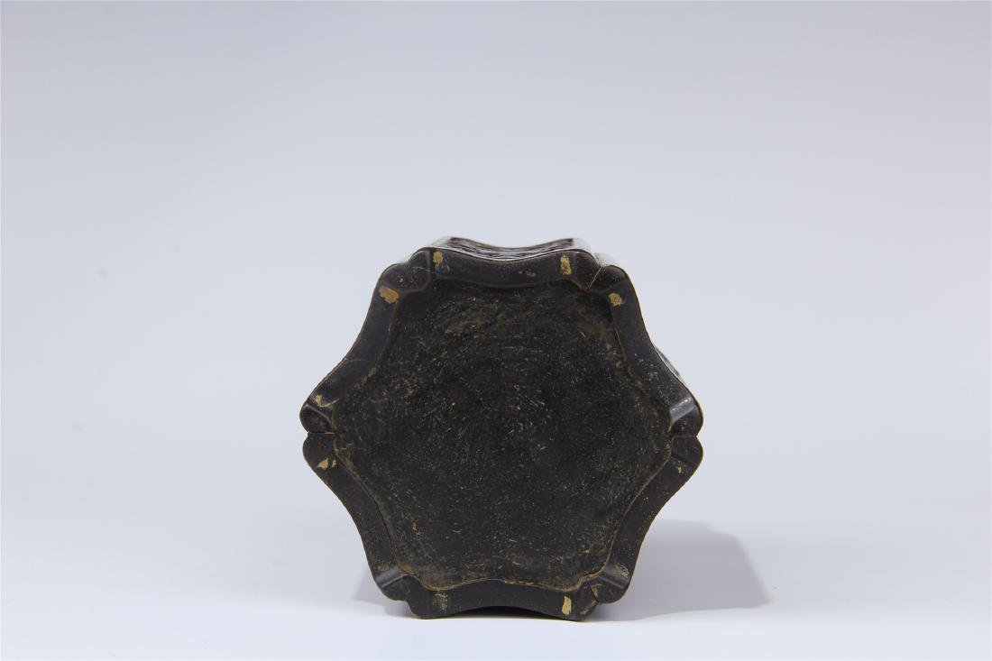 CHINESE ZITAN BRUSH POT - 7