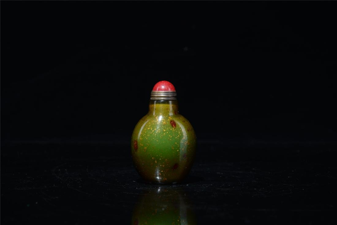 CHINESE AGATE SNUFF BOTTLE - 2