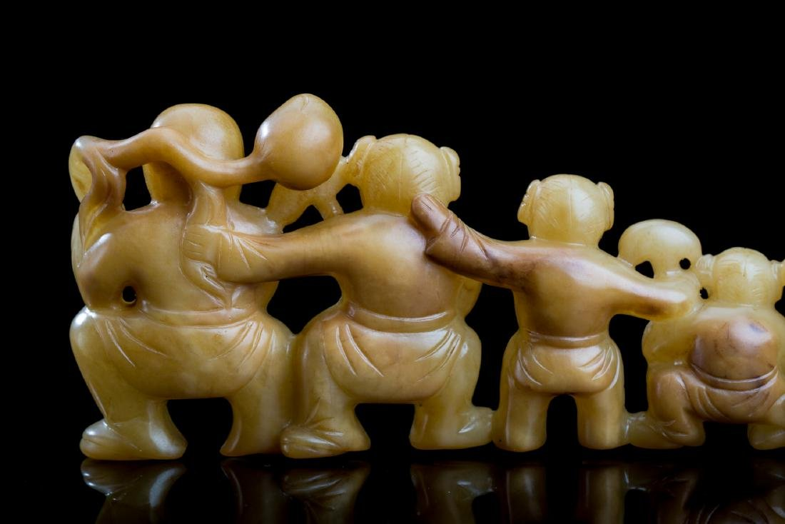 CHINESE BROWN JADE BOYS AND GIRLS - 3