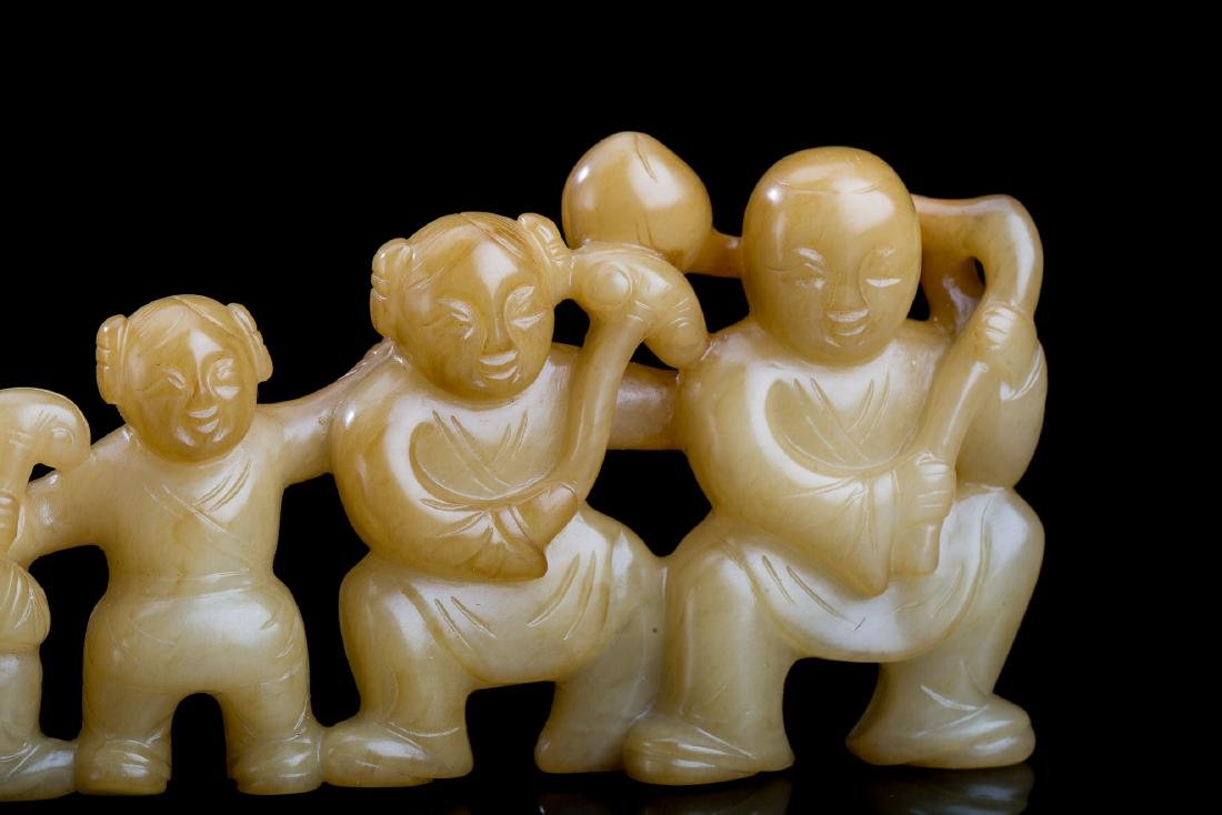 CHINESE BROWN JADE BOYS AND GIRLS - 5