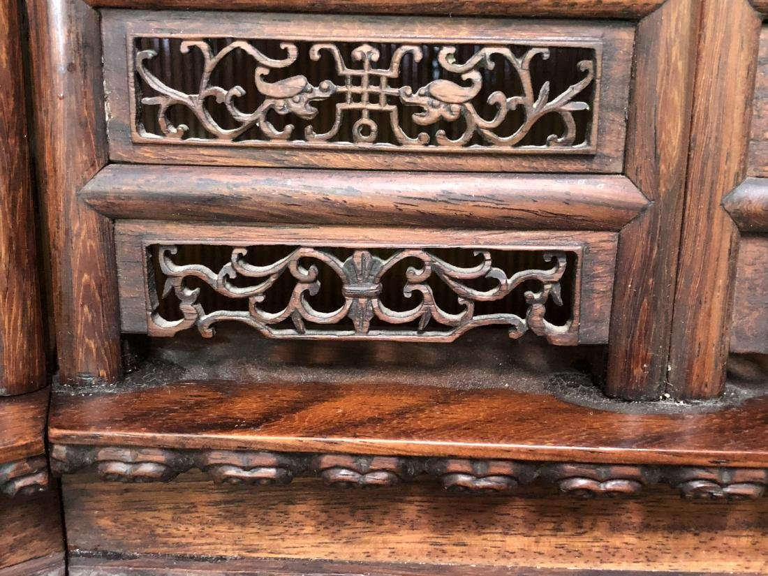 CHINESE QIANLONG IMPERIAL EIGHT PANLES OF HARDWOOD - 8