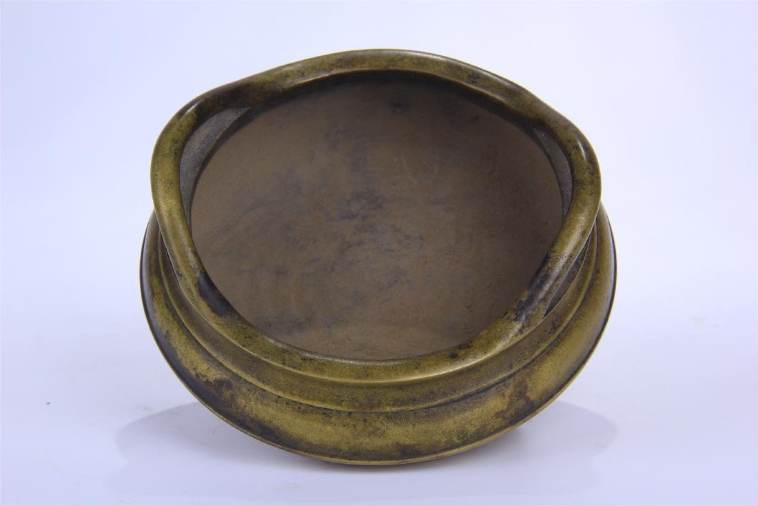 CHINESE COPPER ROUND CENSER - 4