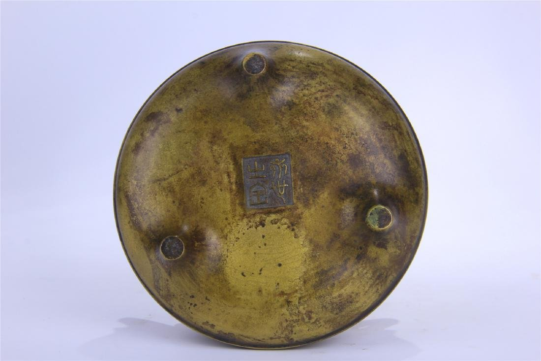 CHINESE COPPER ROUND CENSER - 5