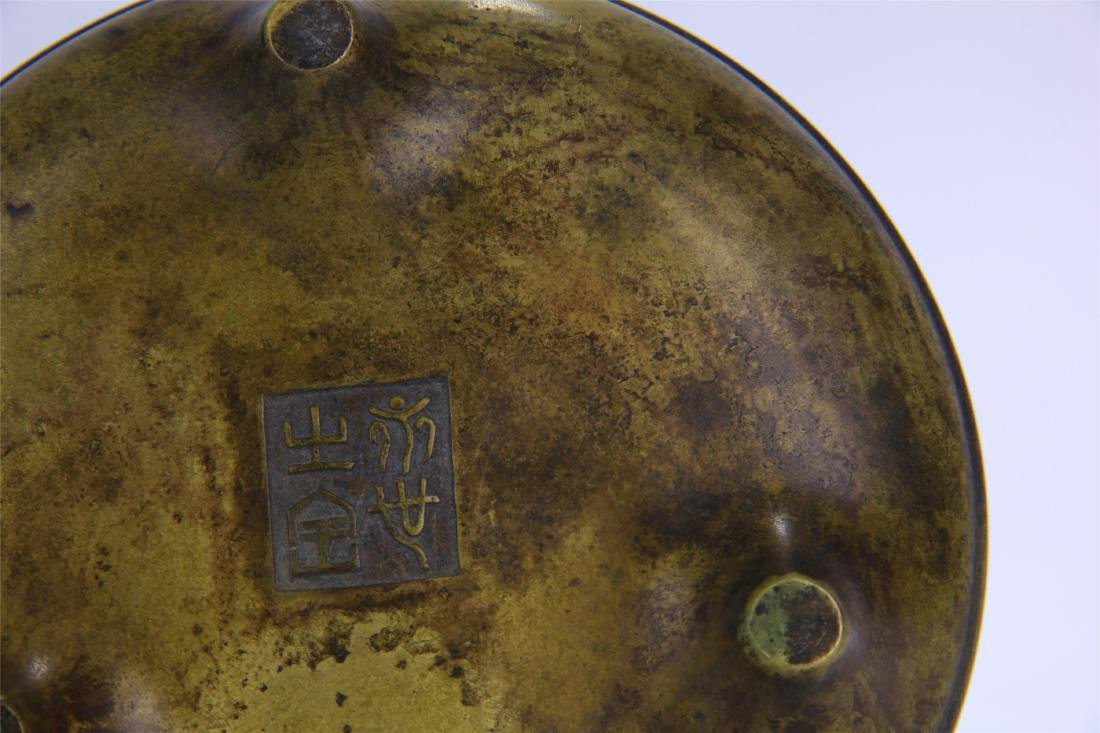 CHINESE COPPER ROUND CENSER - 6