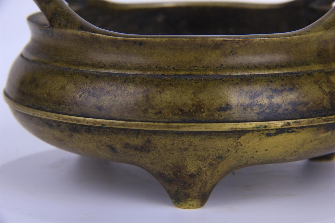 CHINESE COPPER ROUND CENSER - 7