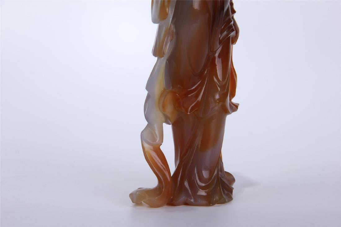 CHINESE AGATE STANDING BEAUTY - 6