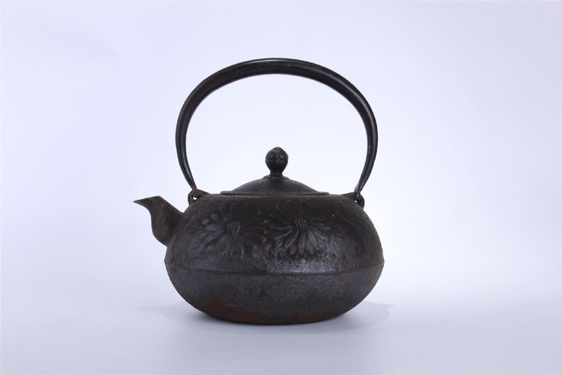 JAPANESE IRON TEA POT - 5