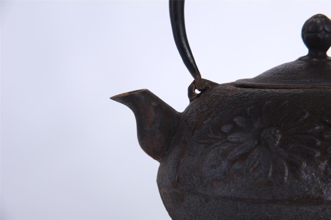 JAPANESE IRON TEA POT - 6