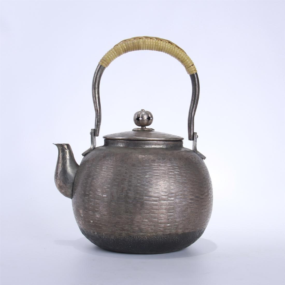 JAPANESE SILVER TEA POT