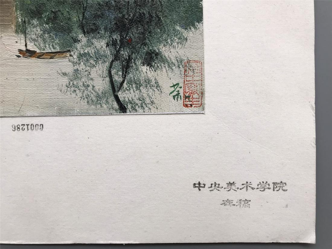 NINETEEN PAGES OF CHINESE WATERCOLOR PAINTING OF - 2