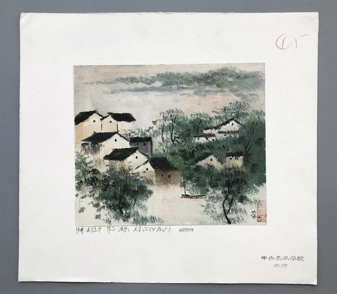 NINETEEN PAGES OF CHINESE WATERCOLOR PAINTING OF - 3