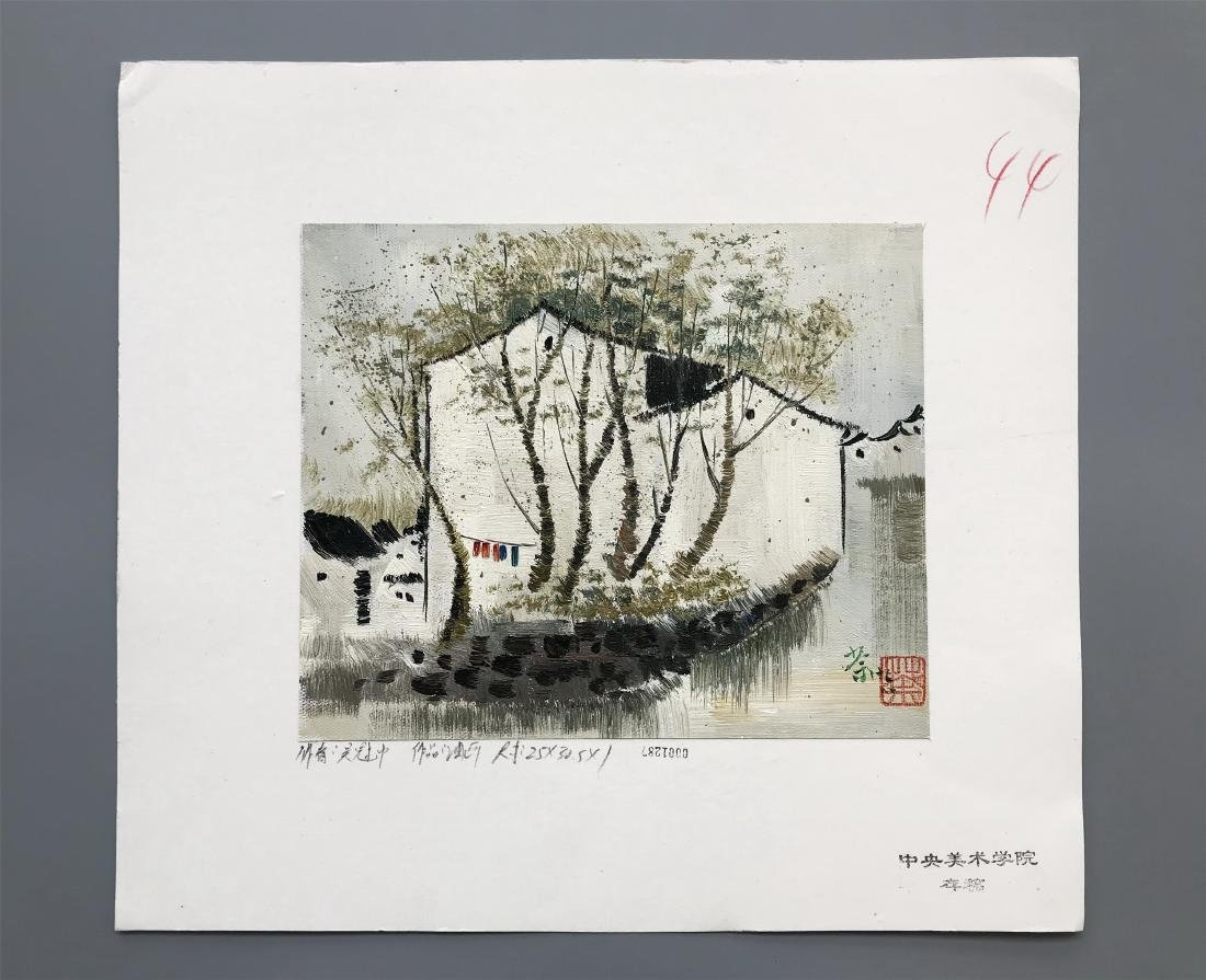 NINETEEN PAGES OF CHINESE WATERCOLOR PAINTING OF - 4