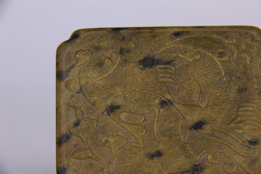 CHINESE STONE CARVED INK STONE - 2