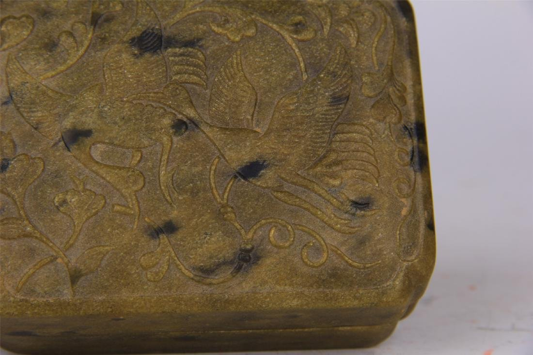 CHINESE STONE CARVED INK STONE - 3