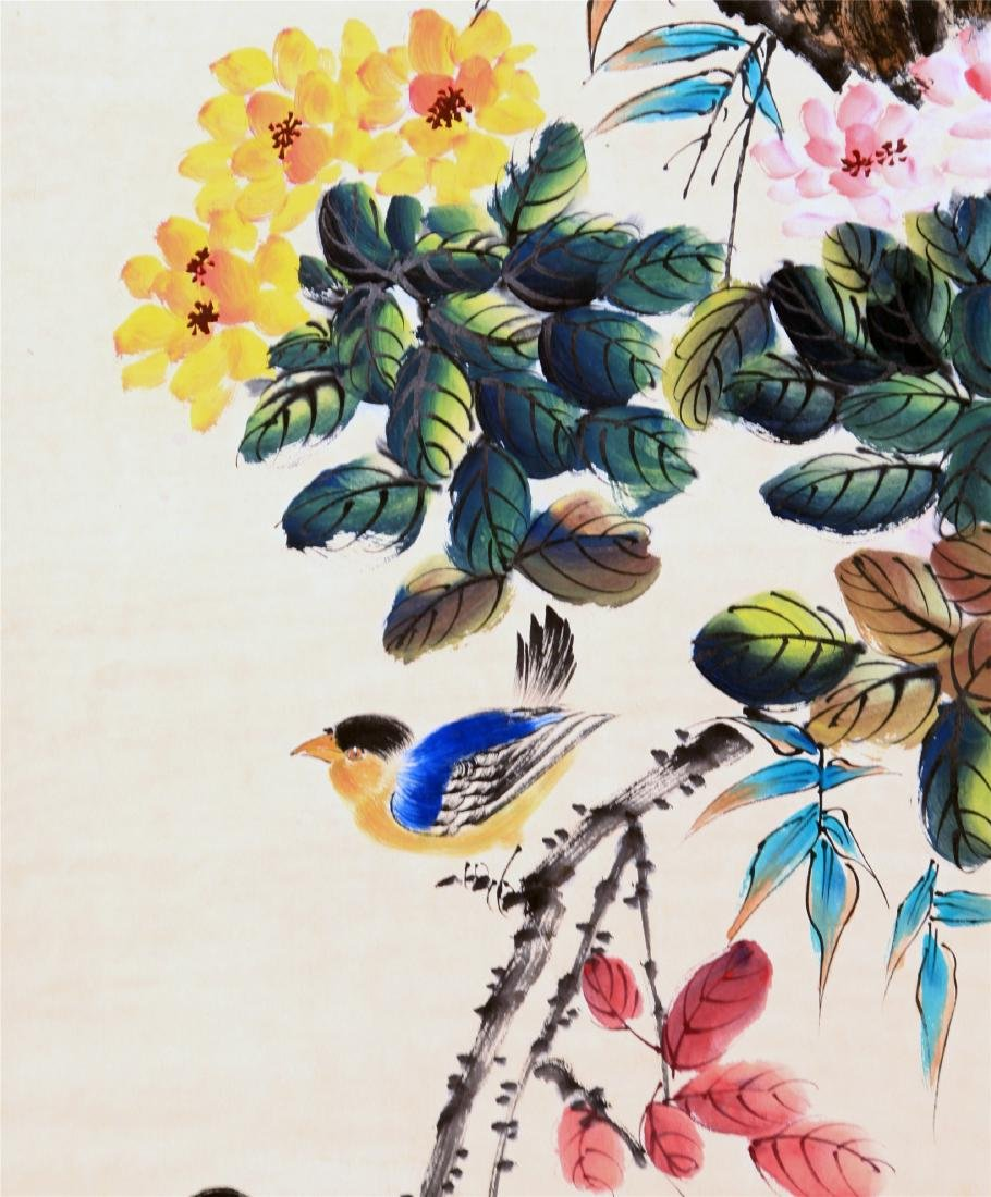 CHINESE SCROLL PAINTING OF BIRD AND FLOWER - 2