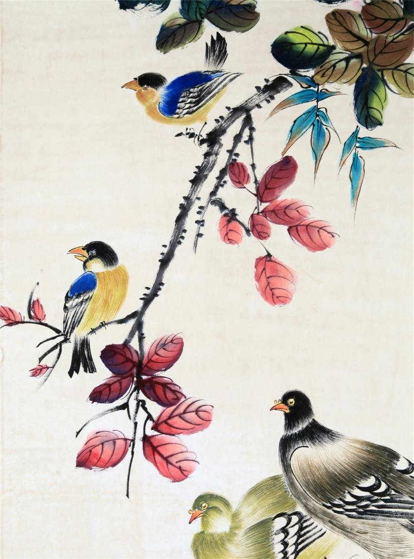 CHINESE SCROLL PAINTING OF BIRD AND FLOWER - 3