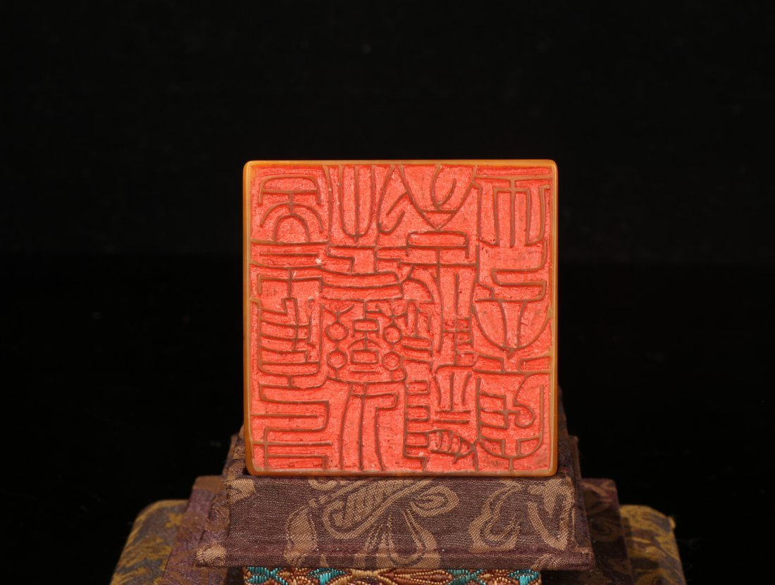 CHINESE TIANHUANG STONE BEAST SEAL - 9