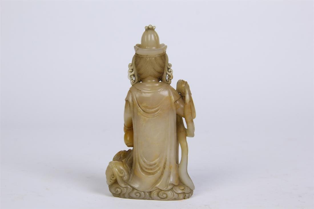 CHINESE SOAPSTONE STANDING BUDDHA - 3