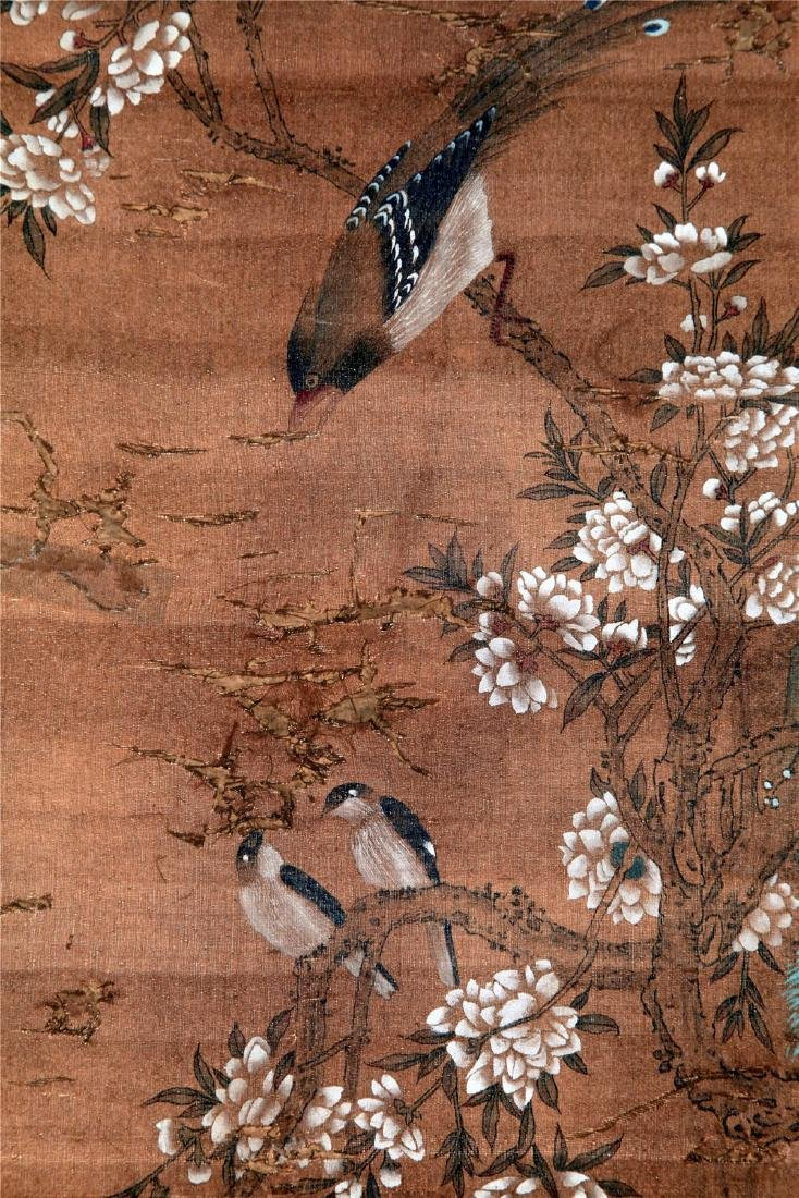 CHINESE SCROLL PAINTING OF BIRD AND FLOWER - 4