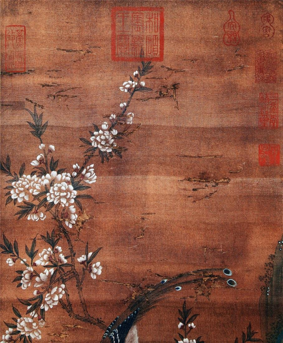 CHINESE SCROLL PAINTING OF BIRD AND FLOWER - 5