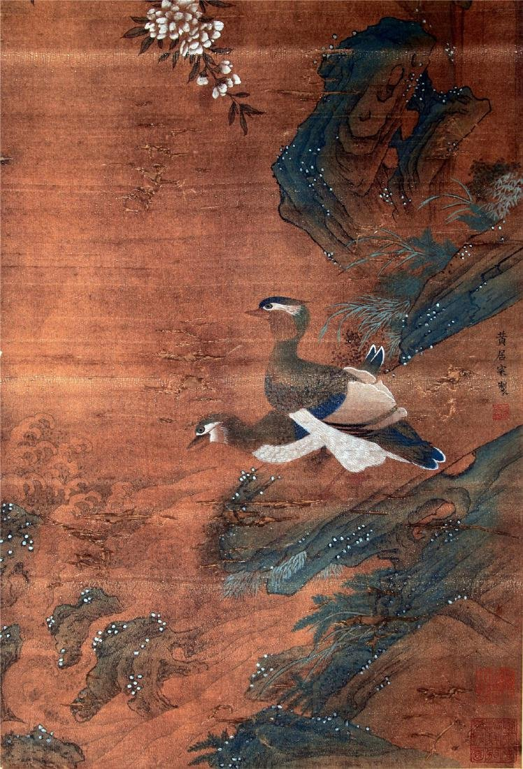 CHINESE SCROLL PAINTING OF BIRD AND FLOWER - 6