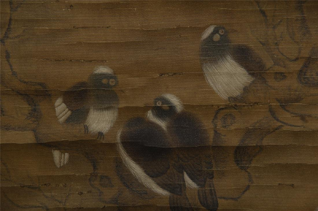 CHINESE SCROLL PAINTING OF BIRDS ON TREE - 3