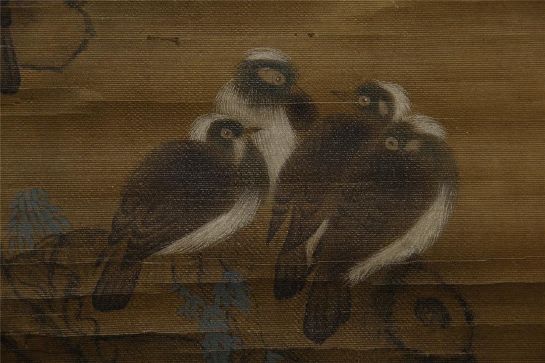 CHINESE SCROLL PAINTING OF BIRDS ON TREE - 4