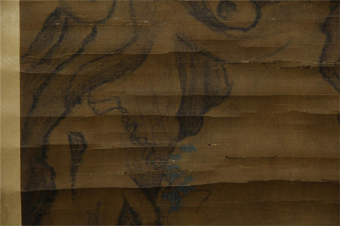CHINESE SCROLL PAINTING OF BIRDS ON TREE - 6