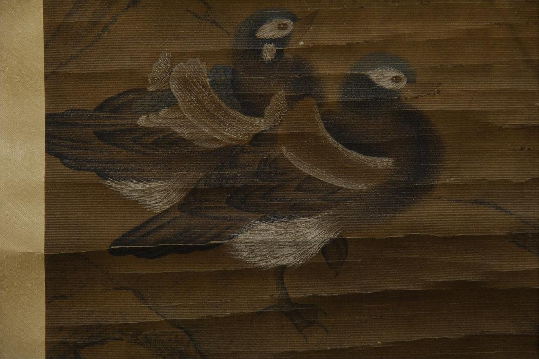 CHINESE SCROLL PAINTING OF BIRDS ON TREE - 8