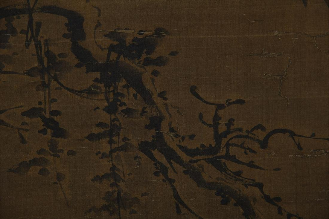 CHINESE SCROLL PAINTING OF BIRD ON ROCK - 5