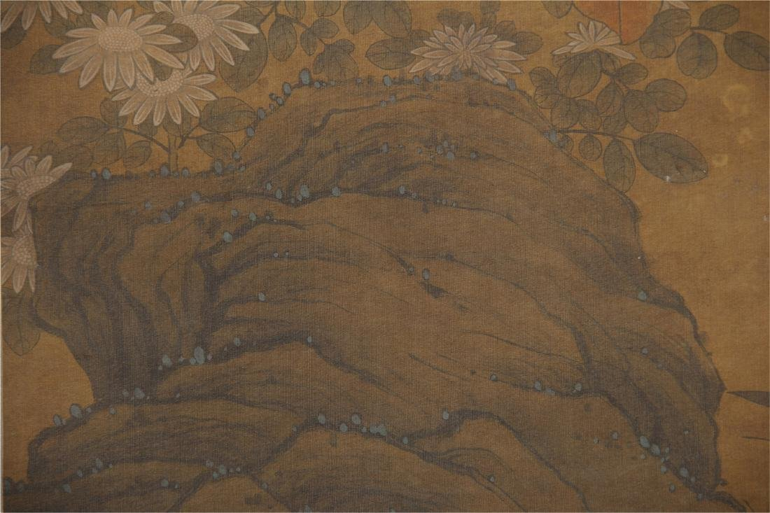 CHINESE SCROLL PAINTING OF BIRDS ON TREE - 7