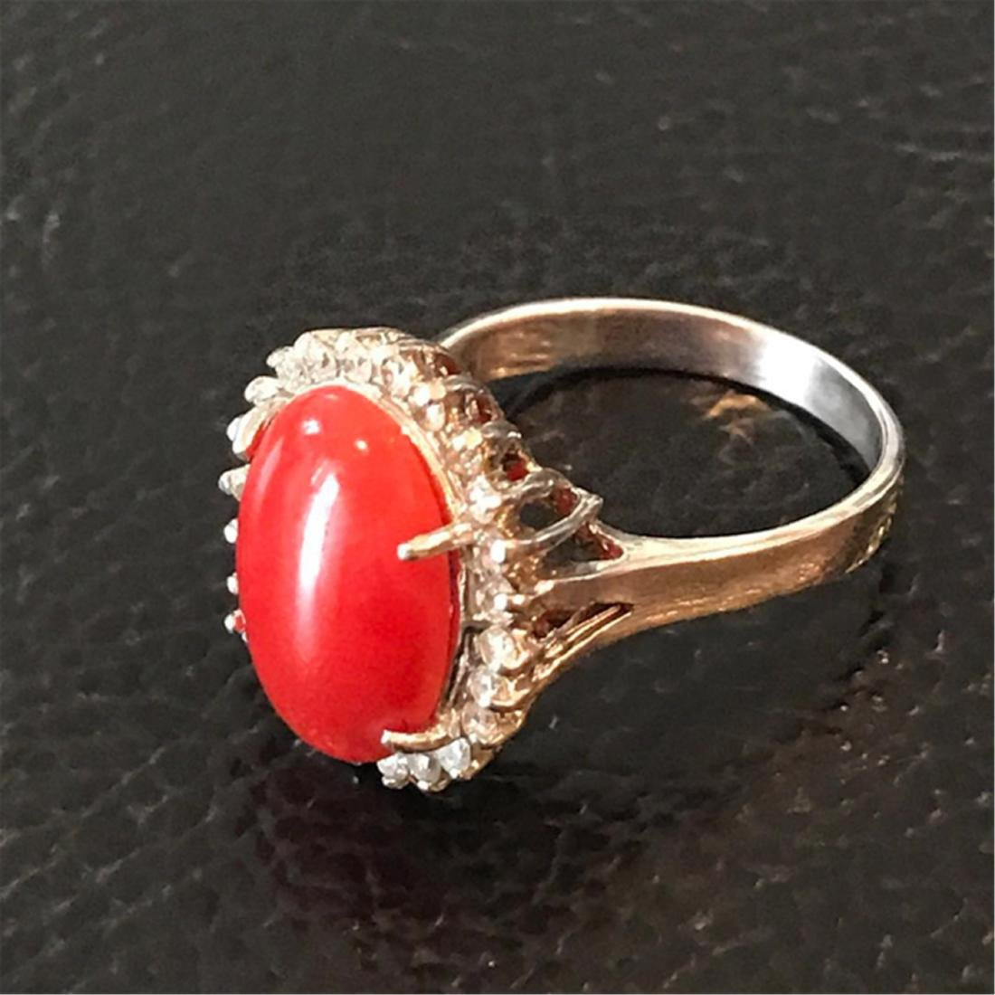 CORAL EARRINGS AND IRNG - 2