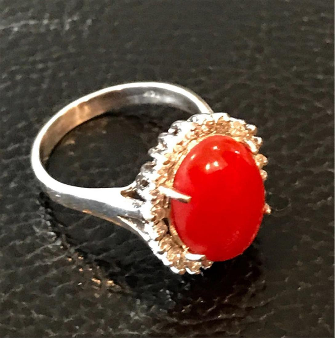 CORAL EARRINGS AND IRNG - 3