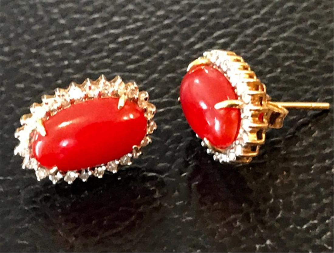 CORAL EARRINGS AND IRNG - 6