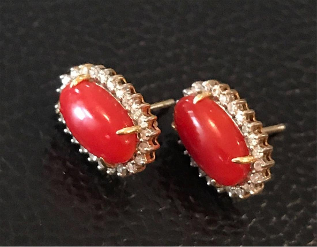 CORAL EARRINGS AND IRNG - 8