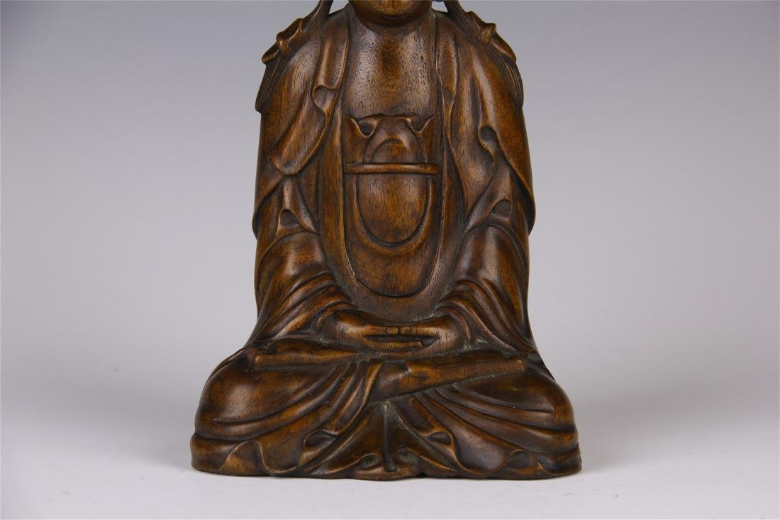 CHINESE AGALWOOD SEATED GUANYIN - 3