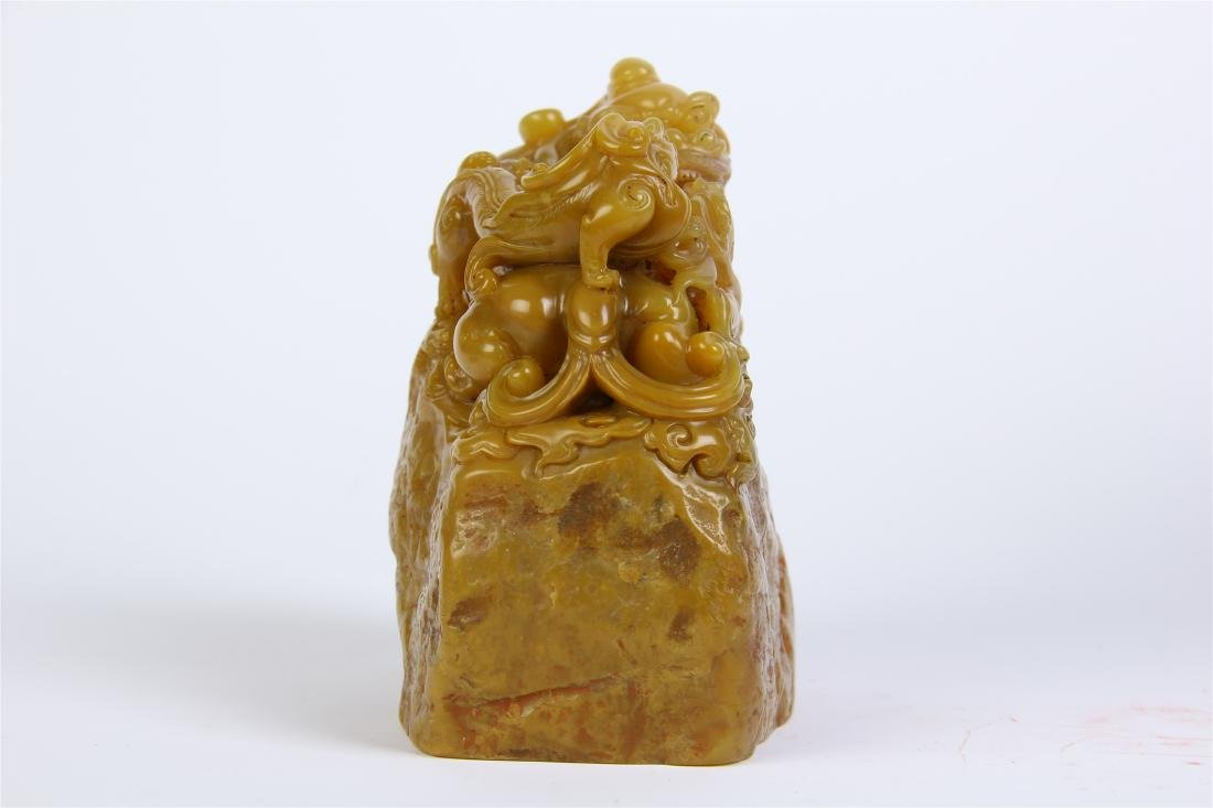 CHINESE TIANHUANG STONE BEAST SEAL - 6