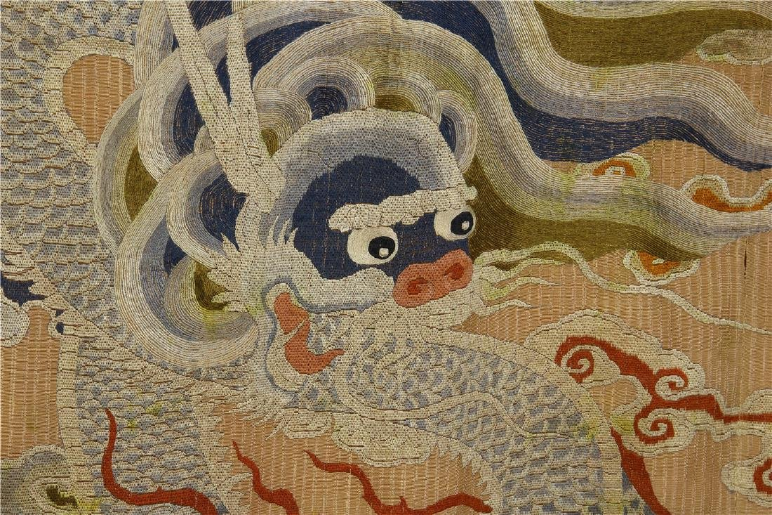 CHINESE EMBROIDERY DRAGON TAPESTRY - 10