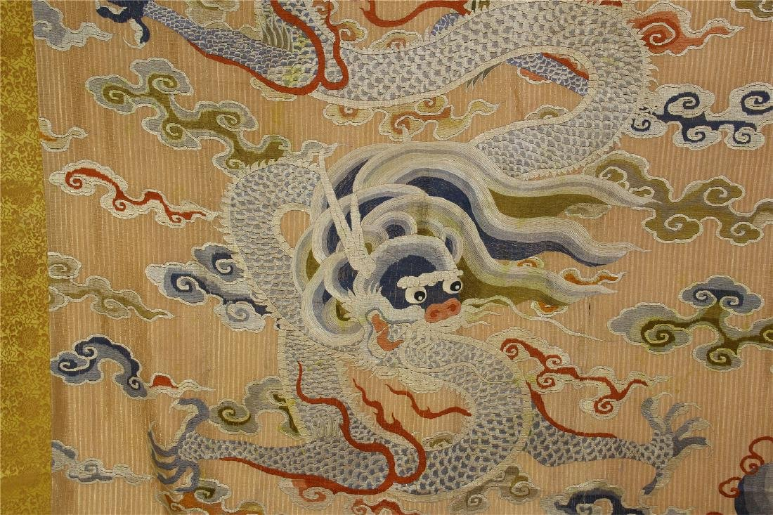 CHINESE EMBROIDERY DRAGON TAPESTRY - 5