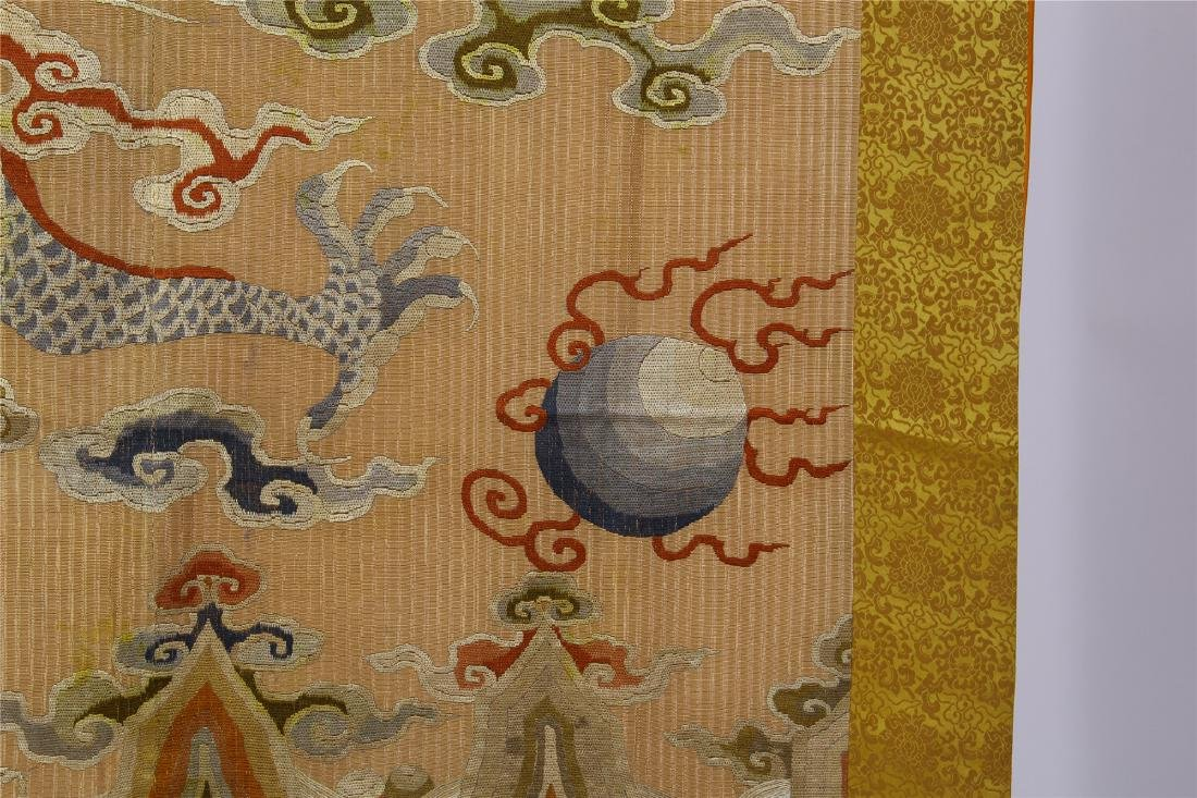 CHINESE EMBROIDERY DRAGON TAPESTRY - 6