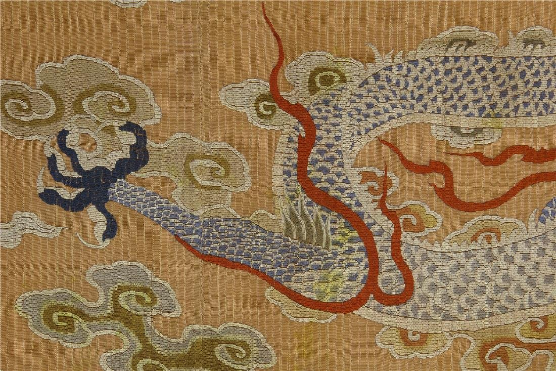 CHINESE EMBROIDERY DRAGON TAPESTRY - 8