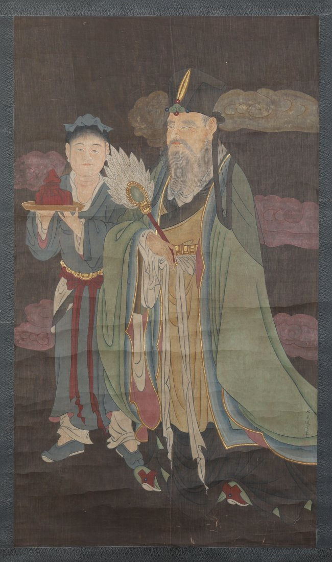 CHINESE SCROLL PAINTING OF TWO FIGURES