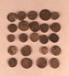 Tweenty Three Chinese Silver Coins Qing Dynasty