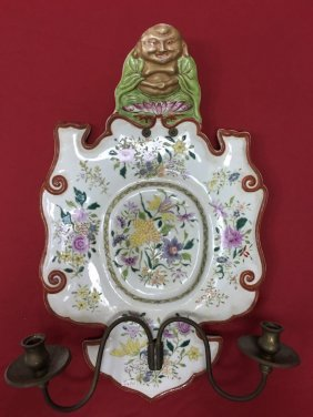 Chinese Export Porcelain Famille Rose Wall Hanged