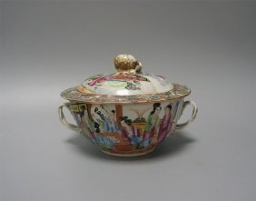 Chinese Export Porcelain Famille Medillian Bowl