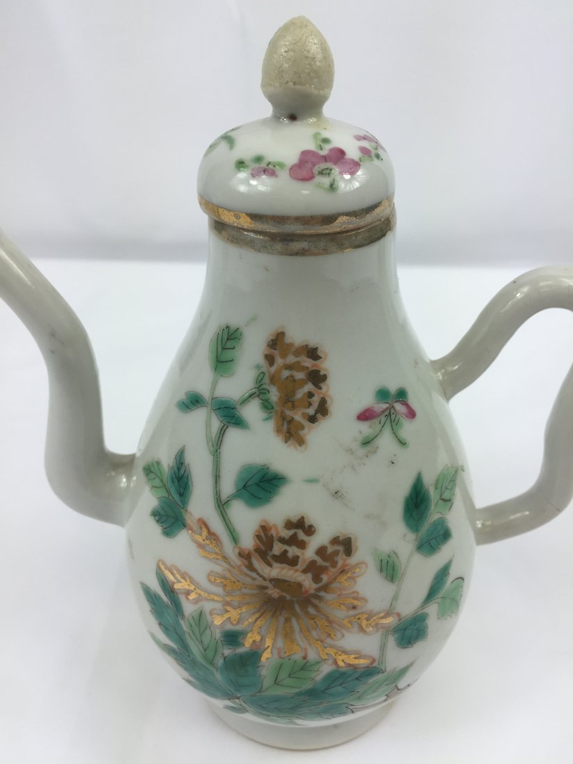 CHINESE PORCELAIN FAMILLE ROSE KETTLE REPUBLIC PERIODE - 3