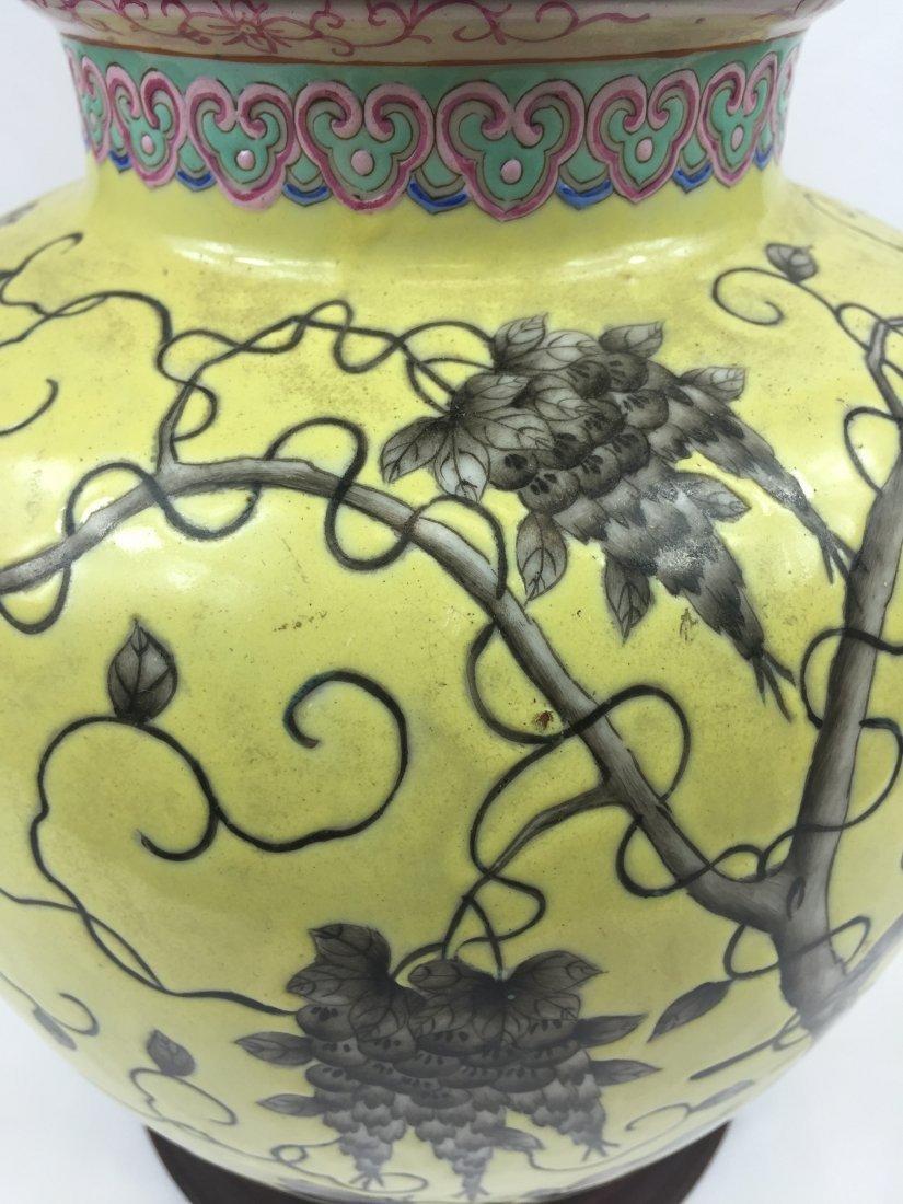 CHINESE PORCELAIN YELLOW GLAZE DAYAZHAI STYLE JAR - 2