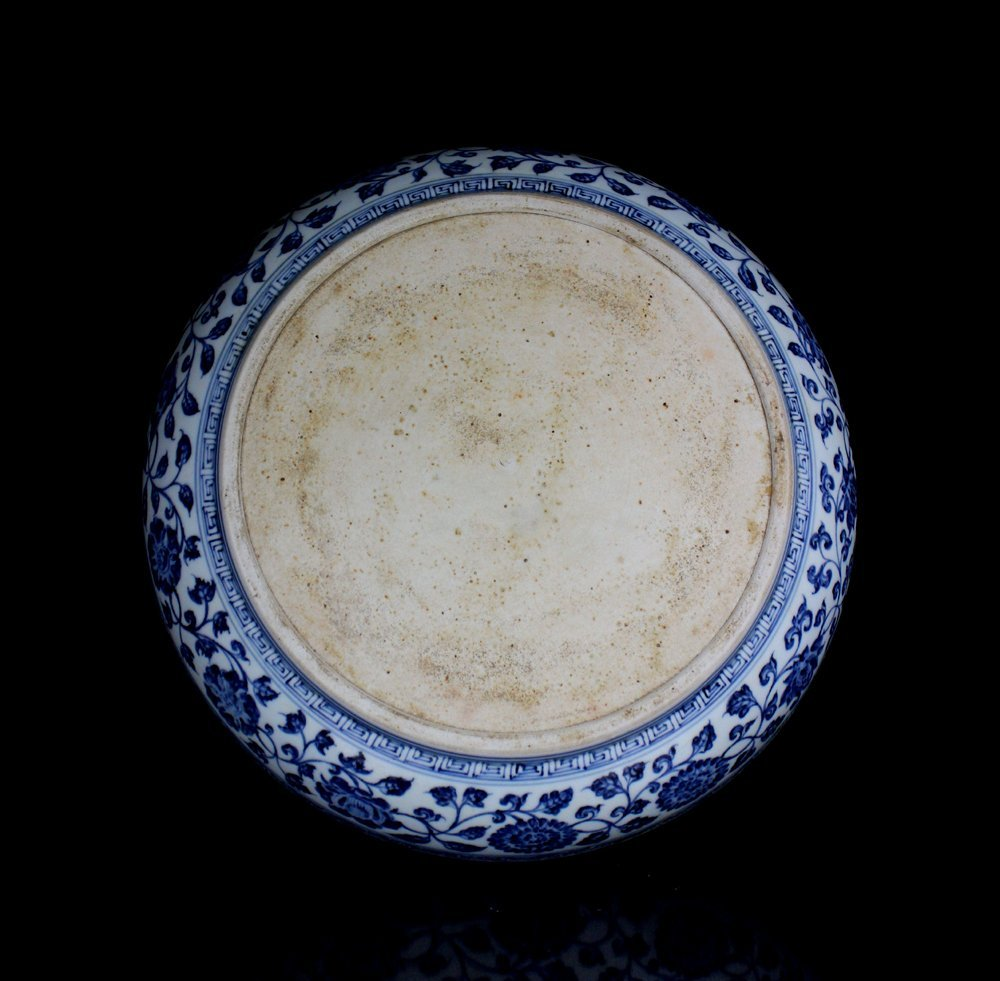 CHINESE PORCELAIN BLUE AND WHITE CHARGER - 3